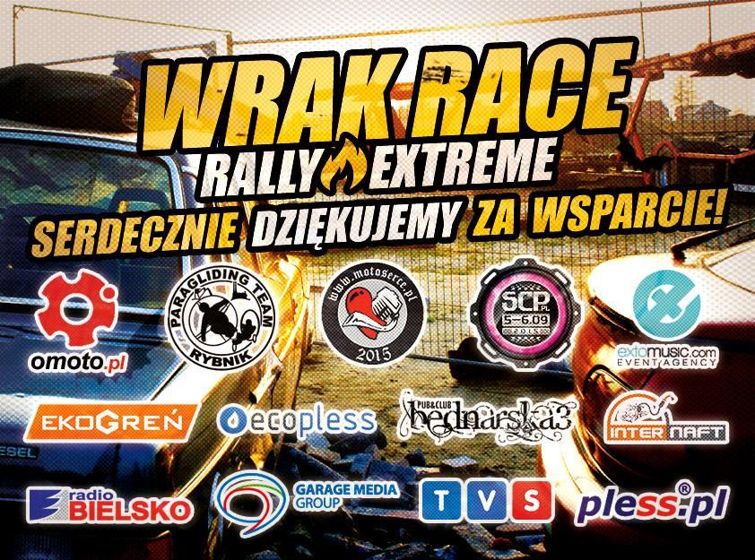 SERDECZNIE DZIĘKUJEMY WSZYSTKIM PARTNEROM ZA WSPARCIE I POMOC PODCZAS ORGANIZACJI WRAK RACE RALLY EXTREME 25.04.2015!!